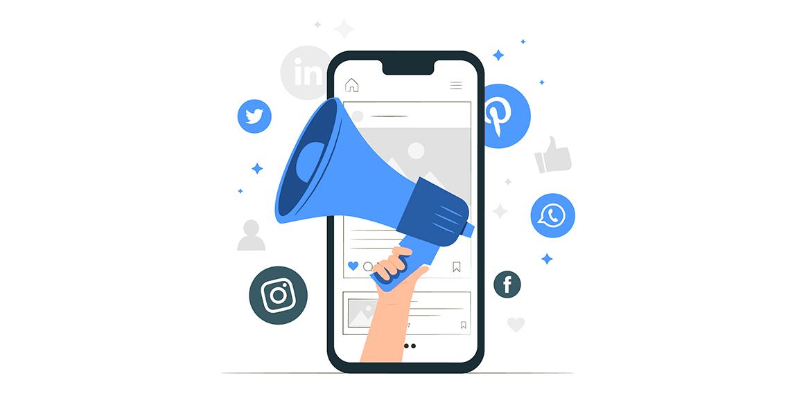Logos of Social Media Channels for increasing App downloads