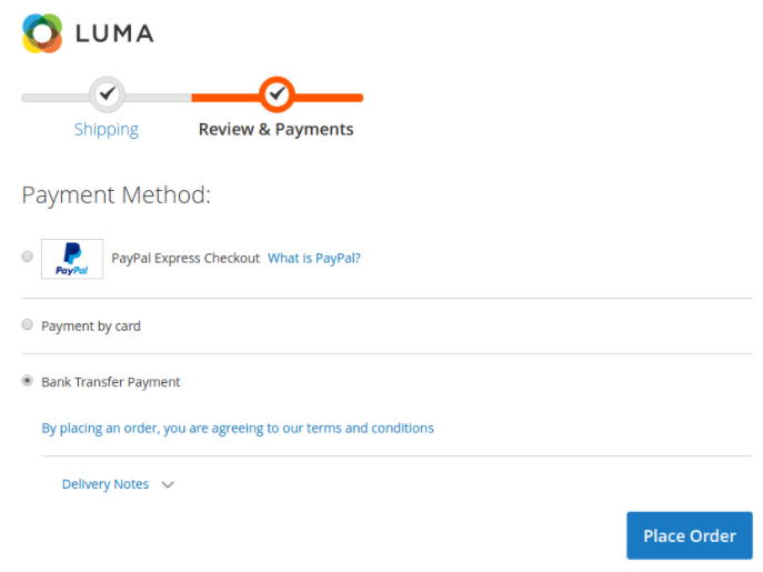 The instant checkout process accompanied with various payment options in Magento 2 decreases the possibility of cart abandonment to a great extent
