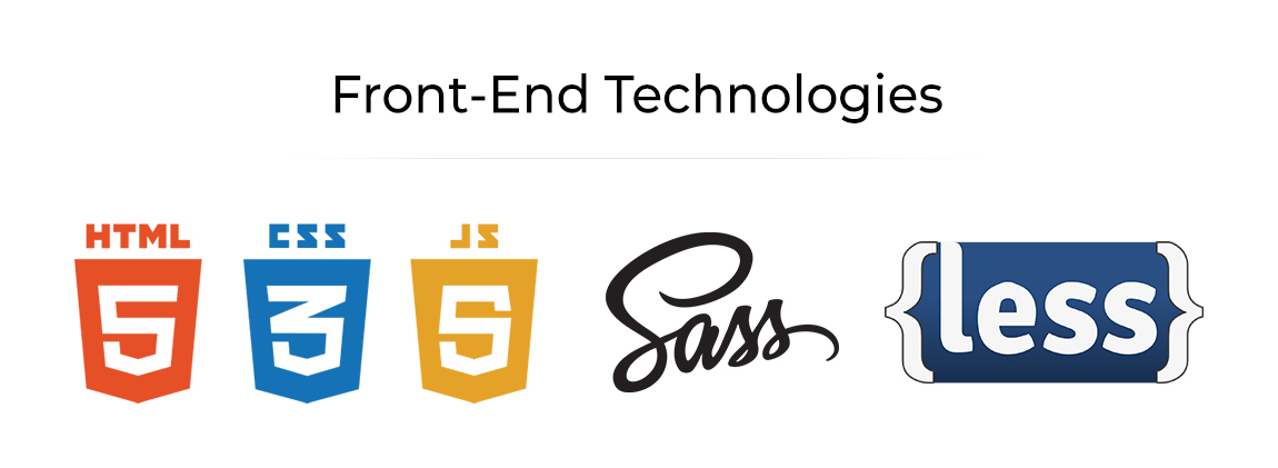 Front end technologies for ecommerce development